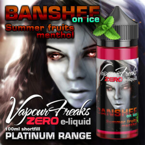 BANSHEE ON ICE - Vapour Freaks ZERO e-liquid - 70% VG - 100ml