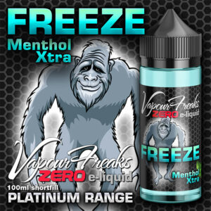 FREEZE - Vapour Freaks ZERO e-liquid - 70% VG - 100ml