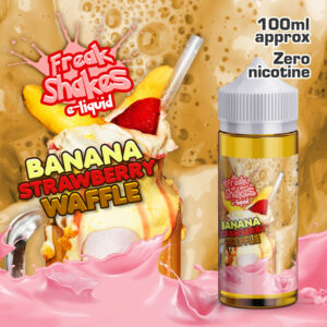 BANANA AND STRAWBERRY WAFFLE - Freak Shakes e-liquid - 70% VG - 100ml