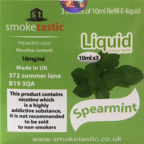 Spearmint - 30ml - Smoketastic eLiquid