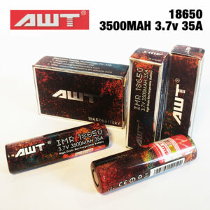2 pack - AWT IMR 18650 Rechargeable batteries - 3500MAH