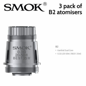 3 pack - SMOK B2 0.3ohm atomisers