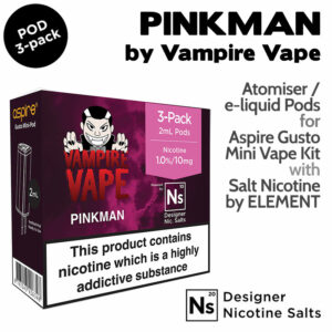 3 pack of Pods - Pinkman - Vampire Vape and Element for Aspire Gusto Mini