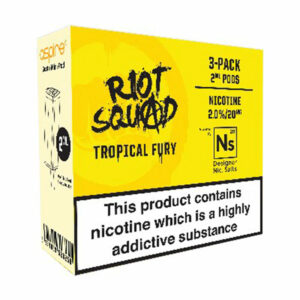 3 pack of Pods - Tropical Fury - by Riot Squad and Element for Aspire Gusto Mini - 2ml and 20mg