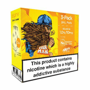 3 pack of Pods - Cush Man - by Nasty Juice and Element for Aspire Gusto Mini - 2ml and 20mg