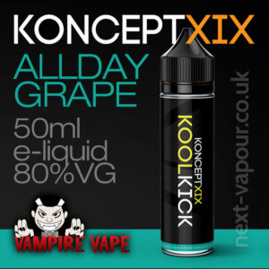 Allday Grape - Koncept XIX e-liquid - 80% VG - 50ml