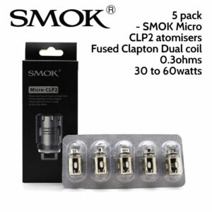 5 pack - SMOK Micro CLP2 atomisers - 0.3ohm