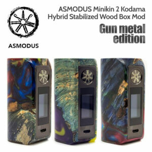 ASMODUS Gun Metal Edition Minikin 2 Kodama 180w Hybrid Stabilised Wood Box Mod