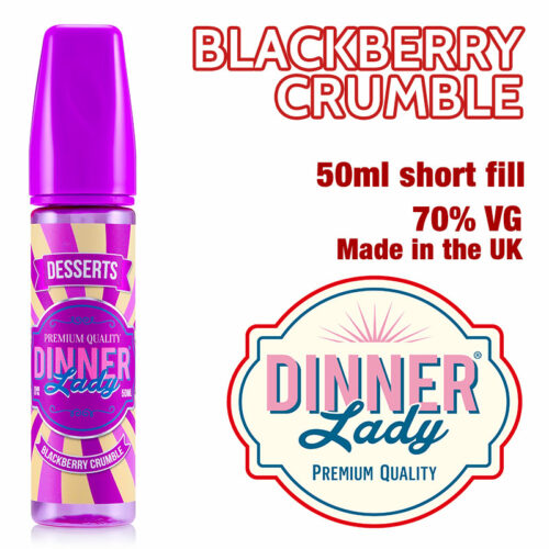 Blackberry Crumble - Dinner Lady e-liquids - 70% VG - 50ml