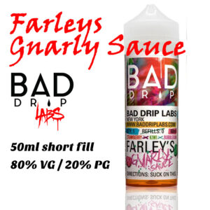Farley's Gnarly Sauce - by Bad Drip e-liquid - 80% VG - 50ml