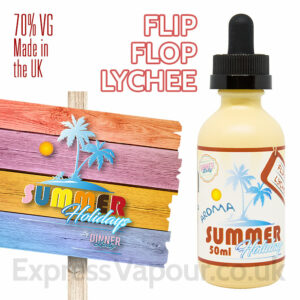 Flip Flop Lychee - Summer Holidays e-liquids by Dinner Lady - 70% VG - 50ml