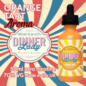 Orange Tart - Dinner Lady Aroma e-liquids - 70% VG - 50ml