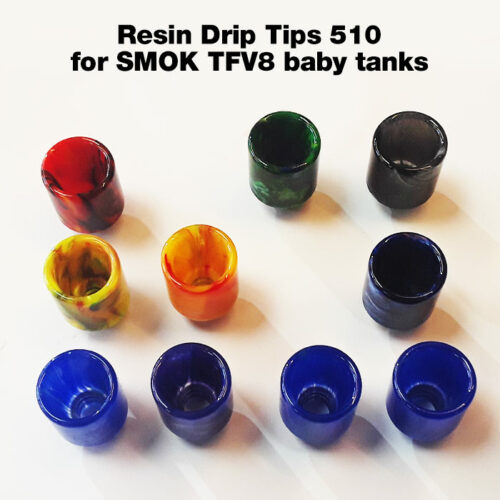 Resin Drip Tip for 510 SMOK TFV8 baby tanks, etc