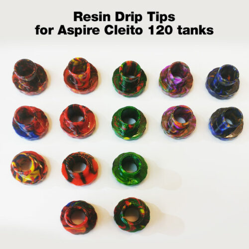 Resin Drip Tip for Aspire Cleito 120 tanks