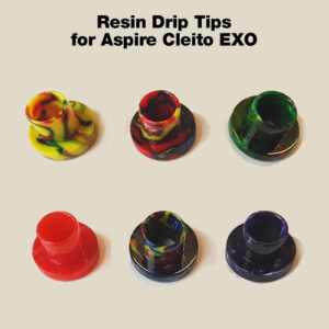 Resin Drip Tip for Aspire Cleito EXO tanks