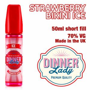 Strawberry Bikini Ice e-liquid by Dinner Lady - 70% VG - 50ml