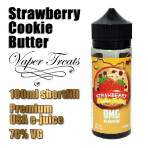 Strawberry Cookie Butter - Vaper Treats e-liquid by Ruthless - 70% VG - 100ml