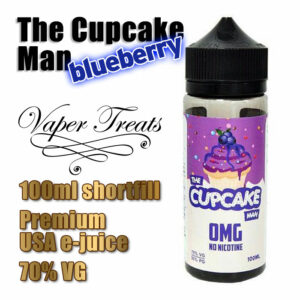 The Blueberry Cupcake Man - Vaper Treats e-liquid by Ruthless - 70% VG - 100ml