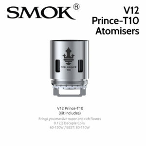 3 pack - SMOK V12 Prince-T10 0.12 ohm decuple core atomisers