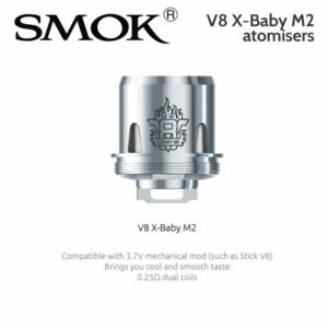 3 pack - SMOK V8 X-BABY M2 atomisers 0.25 ohm dual coil