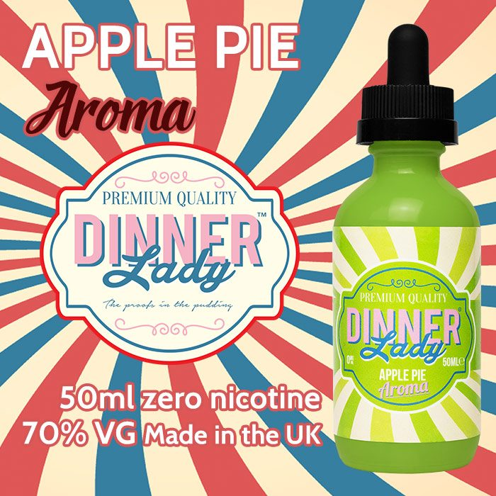 Apple Pie - Dinner Lady Aroma e-liquids - 70% VG - 50ml