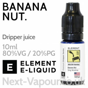 Banana Nut - ELEMENT 80% VG Dripper e-Liquid - 10ml