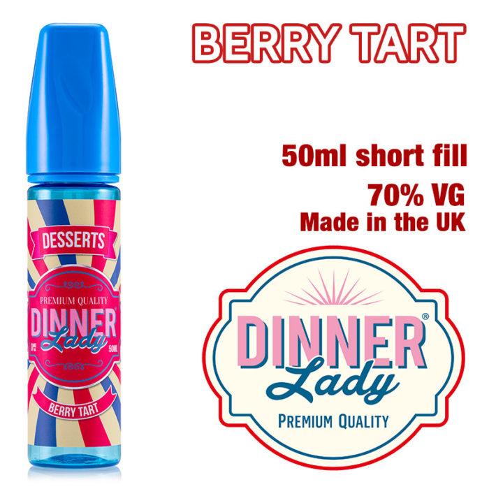 Berry Tart - Dinner Lady e-liquids - 70% VG - 50ml
