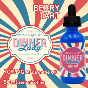Berry Tart - Dinner Lady e-liquids - 70% VG - 50ml