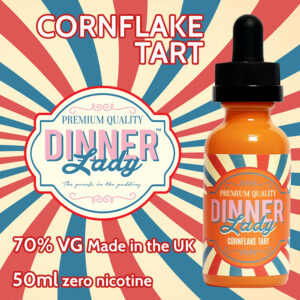 Cornflake Tart - Dinner Lady e-liquids - 70% VG - 50ml