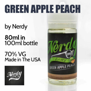 Green Apple Peach - by Nerdy eJuice - 70% VG - 80ml