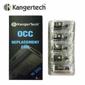 5 pack - Kanger Subtank OCC Ni200 0.5ohm Temperature Sensing atomisers