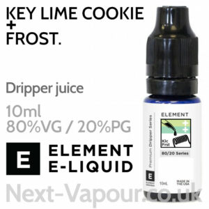 Key Lime Cookie + Frost - ELEMENT 80% VG Dripper e-Liquid - 10ml