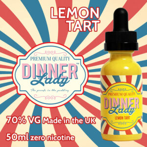 Lemon Tart - Dinner Lady e-liquids - 70% VG - 50ml