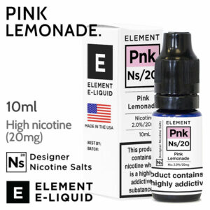 Pink Lemonade - ELEMENT NS20 high nicotine e-liquid - 10ml