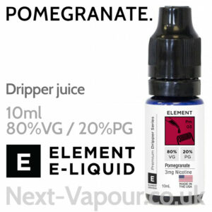 Pomegranate - ELEMENT 80% VG Dripper e-Liquid - 10ml