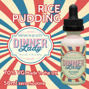 Rice Pudding - Dinner Lady e-liquids - 70% VG - 50ml