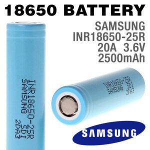 2 pack - SAMSUNG 18650 Rechargeable 2500mAh Batteries - INR18650-25R