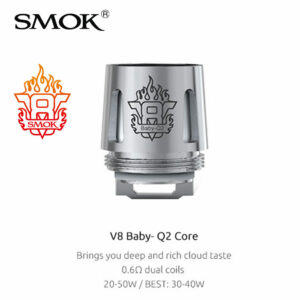 5 pack - SMOK V8 Baby Q2 0.6 Ohm dual coil atomisers
