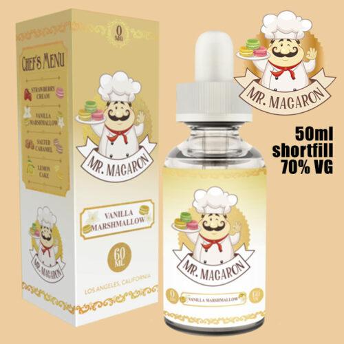 Vanilla Marshmallow - Mr Macaron e-liquid - 70% VG - 50ml