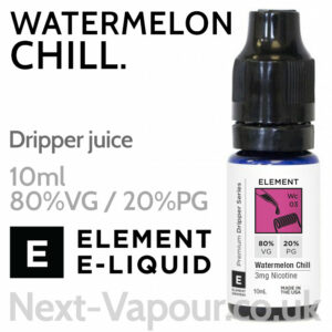 Watermelon Chill - ELEMENT 80% VG Dripper e-Liquid - 10ml