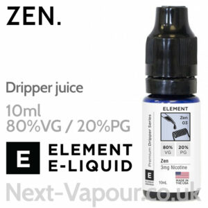Zen - ELEMENT 80% VG Dripper e-Liquid - 10ml