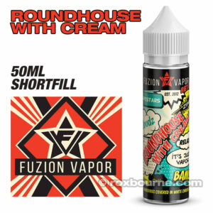 ROUNDHOUSE WITH CREAM - Fuzion Vapor e-liquids 65% VG 50ml