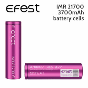 2 pack - Efest IMR 21700 rechargeable 3700mAh battery cells