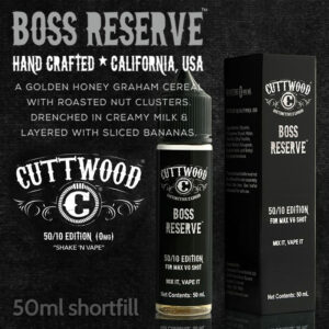 Boss Reserve e-liquid - Cuttwood Vapor - 70% VG - 50ml
