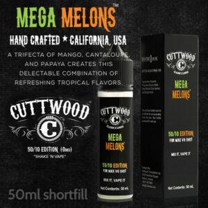 Mega Melons e-liquid - Cuttwood Vapor - 70% VG - 50ml