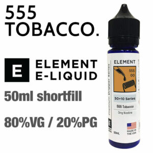 555 Tobacco by Element e-liquids - 50ml