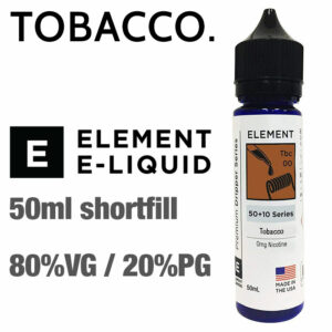 Tobacco by Element e-liquids - 50ml