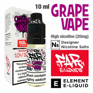 Grape Vape - FAR e-liquids by ELEMENT - Salt Nic - 50% VG - 10ml