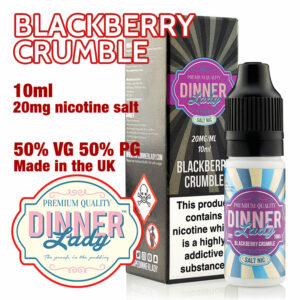 Blackberry Crumble - Dinner Lady Salt Nic e-liquids - 50% VG - 10ml