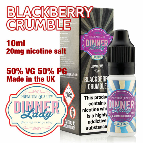 Blackberry Crumble - Dinner Lady Salt Nic e-liquids - 50% VG - 10ml